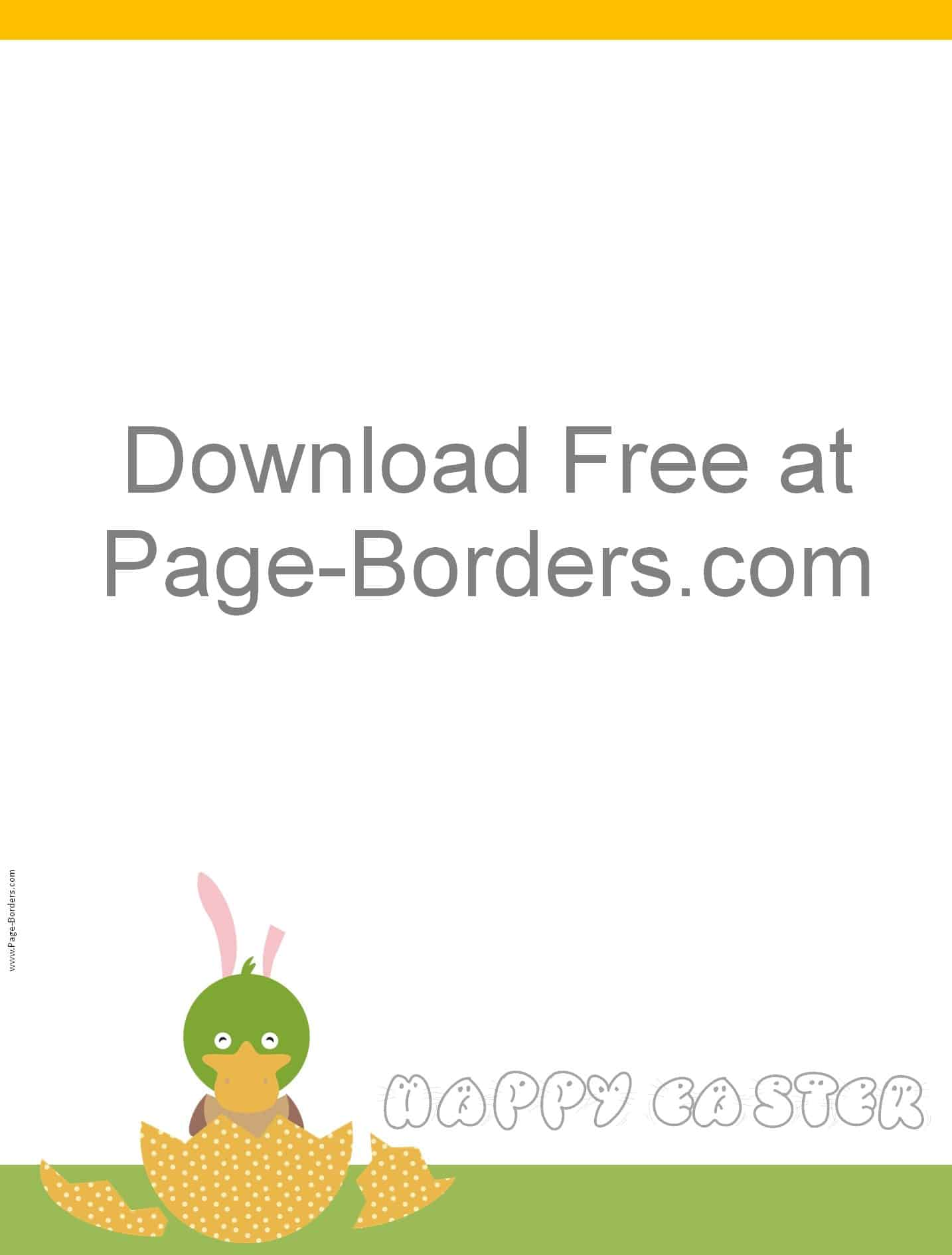 Free Easter Border Customizable And Printable