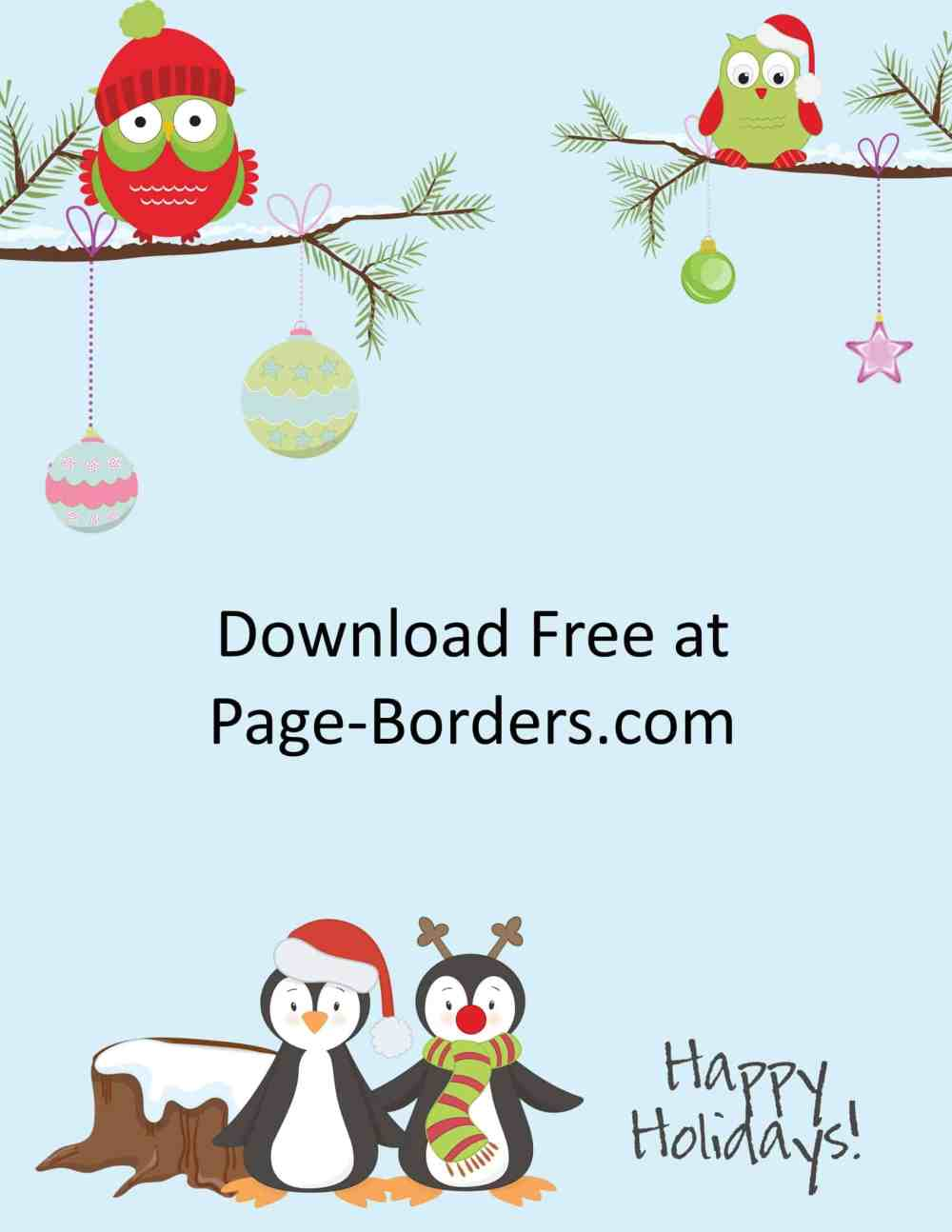 medium resolution of christmas clip art with penguins and owls