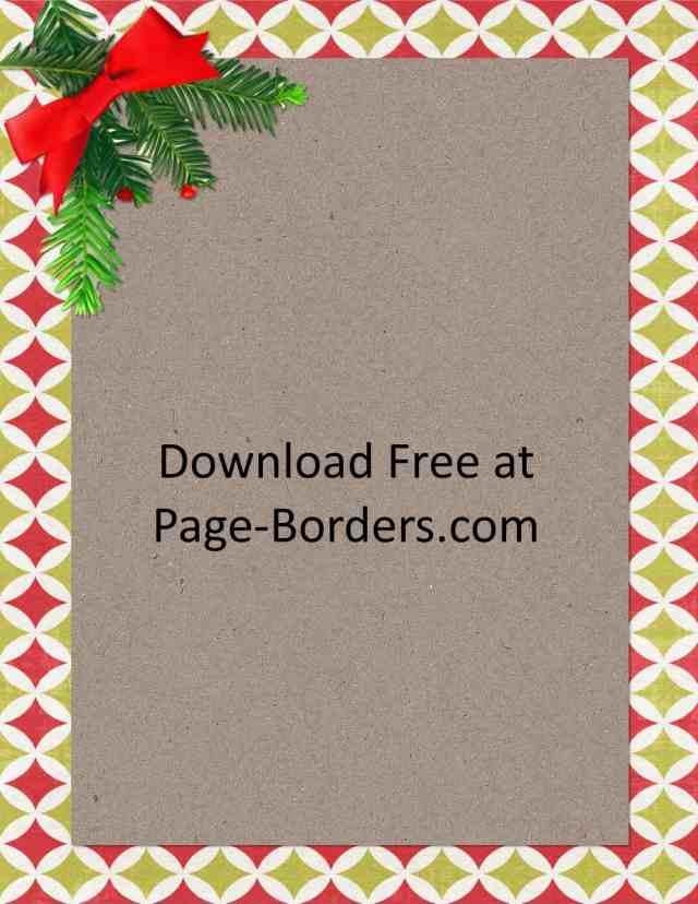 Free Christmas Border Customize