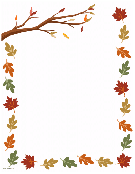 free thanksgiving border printables