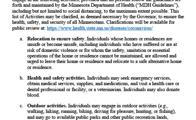 Mn Governor Walz Issues Emergency Executive Order Shelter