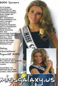 Kristen Howsley, Miss Galaxy 2005