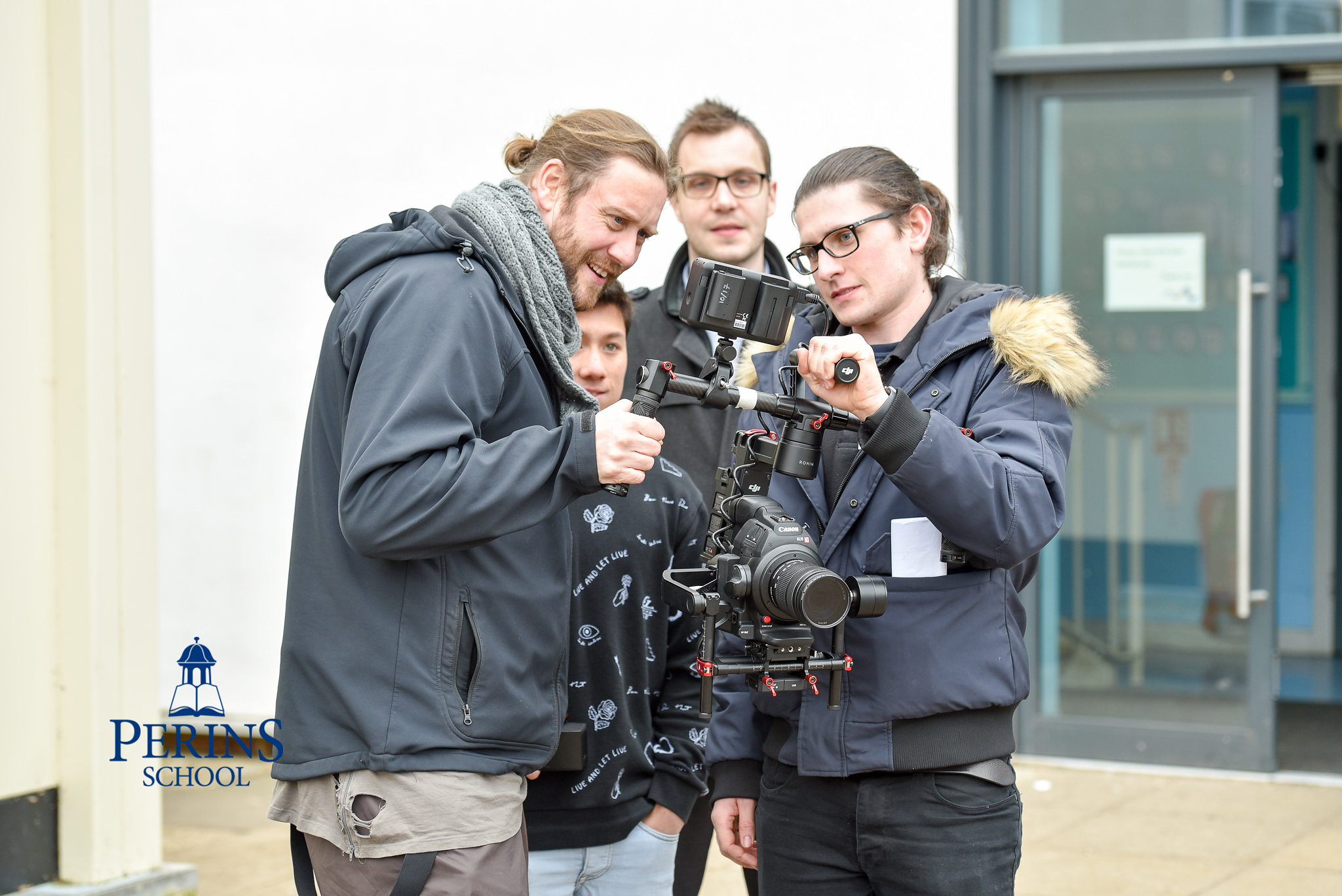 Filming with Perins School
