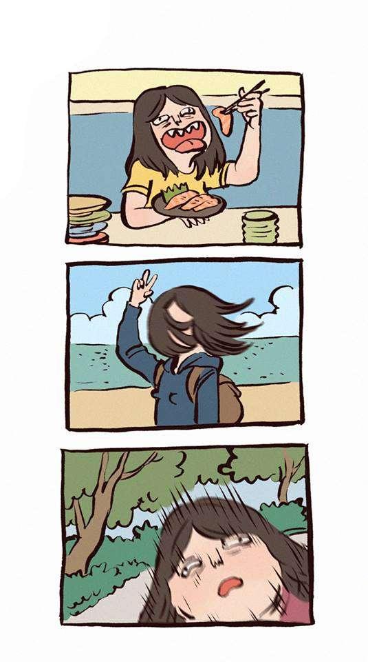 笑死人的「情侶插畫」被閃瞎也沒關係 天然呆男友白目廢到笑XDDD