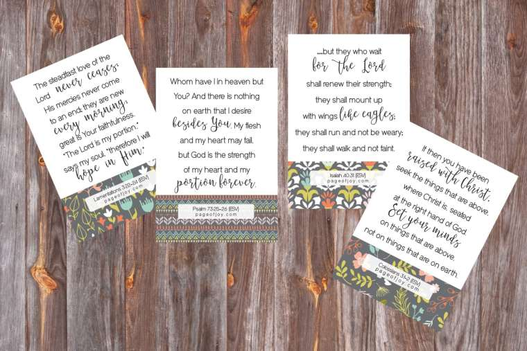 New Years Verse Cards! Free from pageofjoy.com