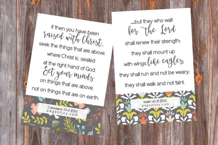 Bible Verses for the New Year | Page of Joy