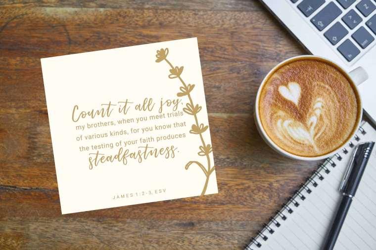 James 1:2-3 Free Printable Scripture Card