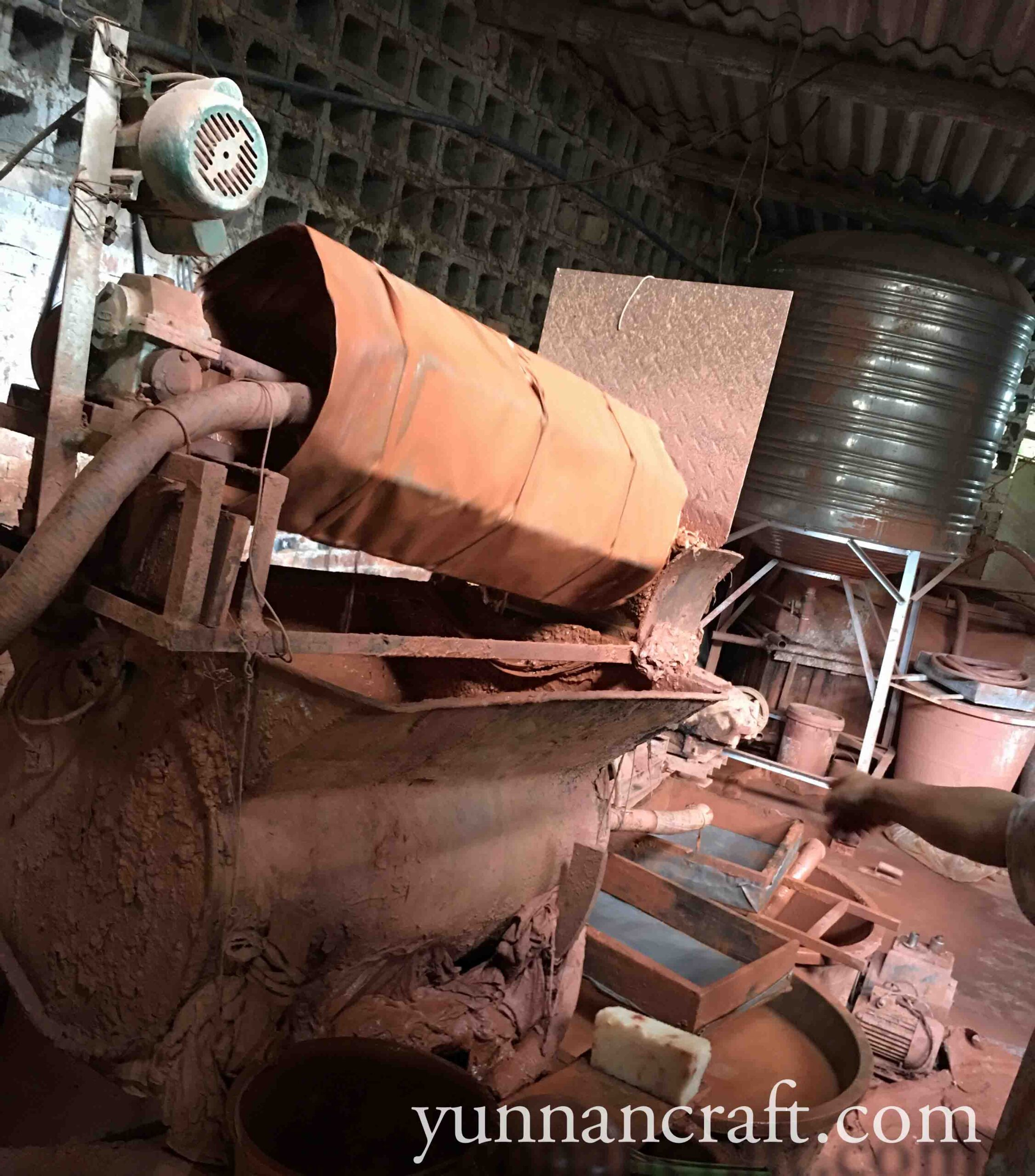 Jianshui clay processing