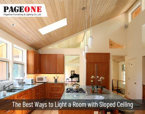 nevjerojatan sloped ceiling led lights