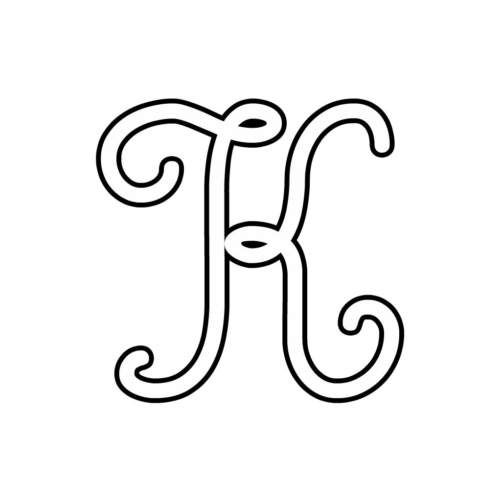 The Letter K In Cursive