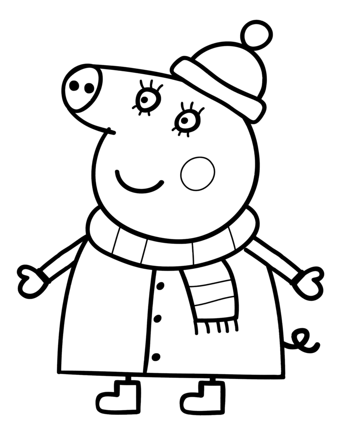Peppa Pig Mummy Coloring Pages