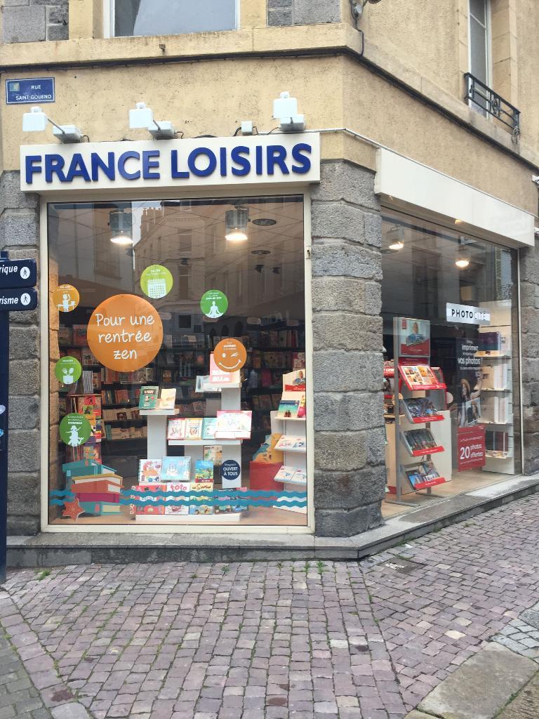 france loisirs saint brieuc librairie