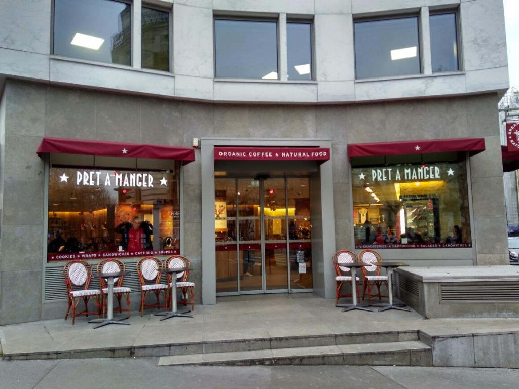 pret a manger paris restaurant