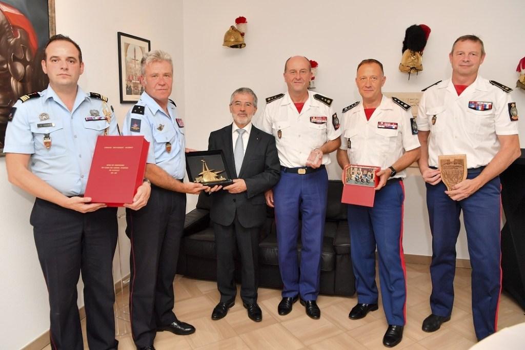 Visite du Général de Division Jean-Claude Gallet Commandant la Brigade de Sapeurs-Pompiers de Paris