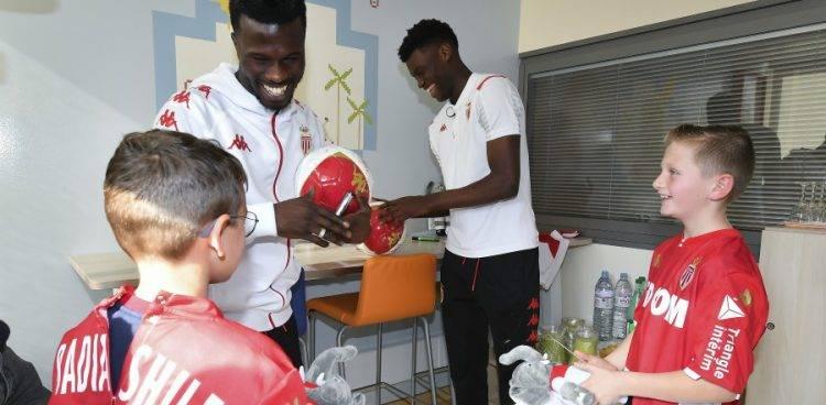 La Belle Initiative de l'AS Monaco Pour Des Enfants Hospitalisés