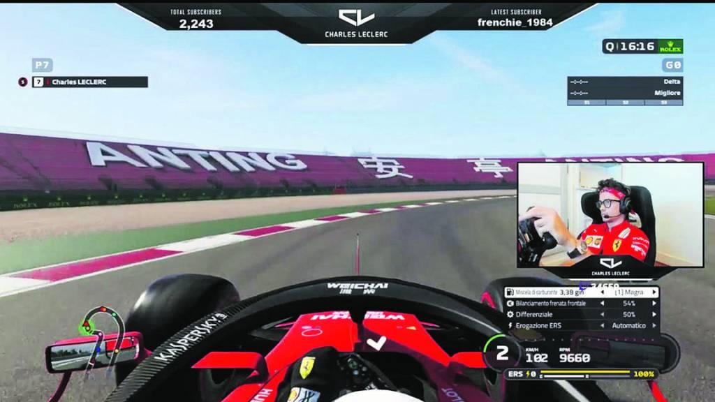 F1 Virtuelle: Charles Leclerc Aussi Rapide Dans Son Salon Qu'en Piste