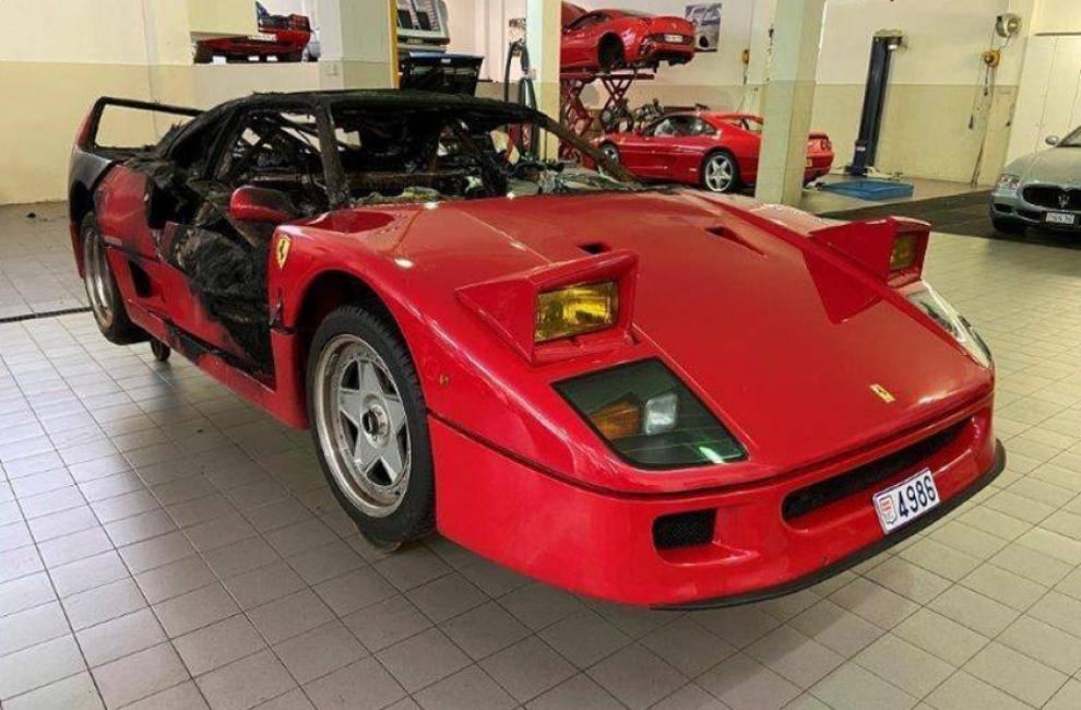 La Ferrari F40 Qui a Brûlé à Monaco Va Être Restaurée !