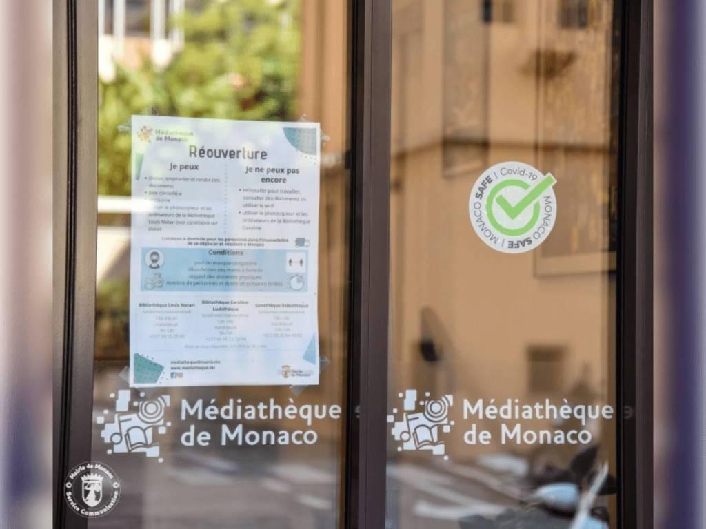 La Médiathèque et Le Club Le Temps de Vivre Labellisés Monaco Safe