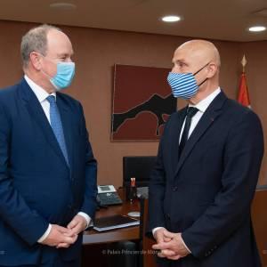 Le Prince Albert II reçoit le nouvel Ambassadeur des Pôles