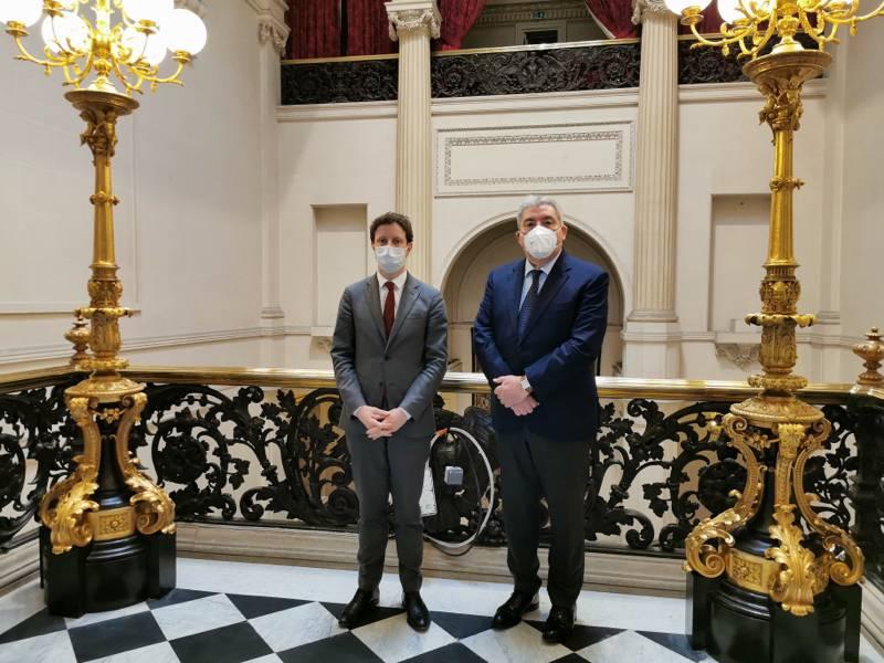 Le Ministre d'Etat rencontre Clément Beaune, Secrétaire d'Etat chargé des Affaires européennes