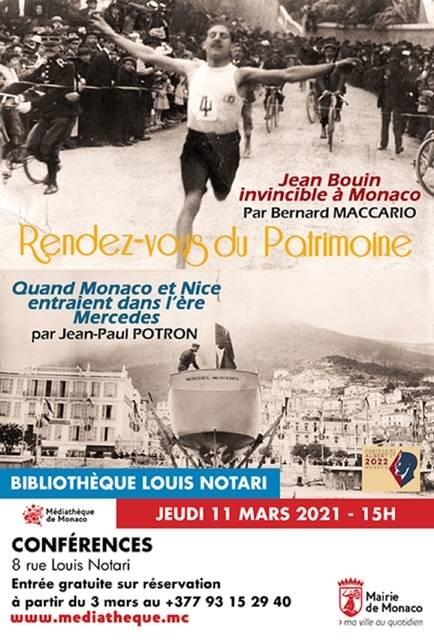 Conférence « Jean Bouin invincible à Monaco » par Bernard Maccario