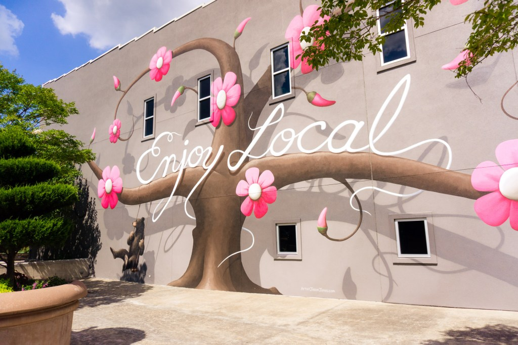 Enjoy Local Street Art - northwest Arkansas