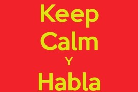 Keep calm y habla español