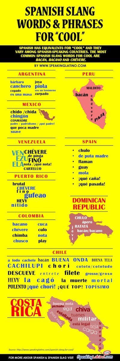 cómo decir cool en español