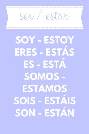 conjugation ser / estar