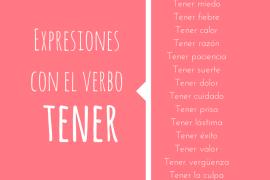 expresiones con el verbo tener