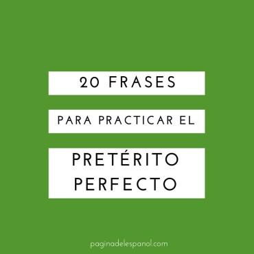 20 frases en pretérito perfecto