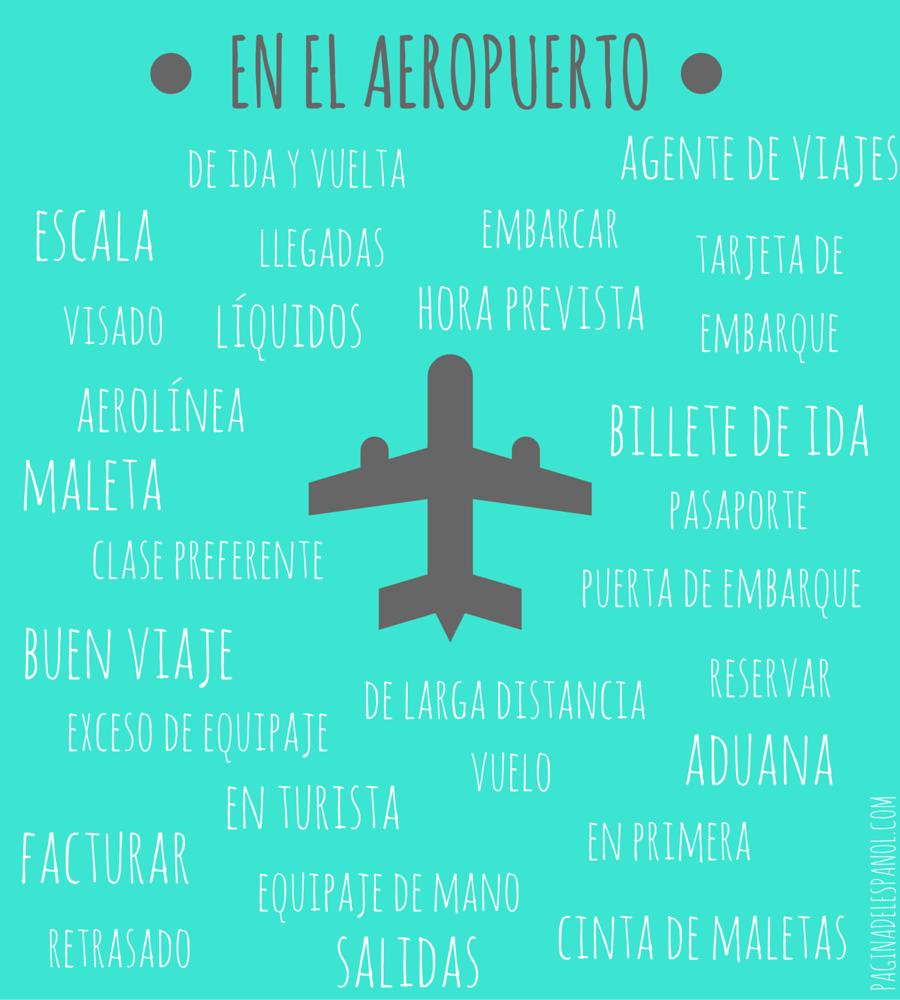 En el aeropuerto_vocabulario en español