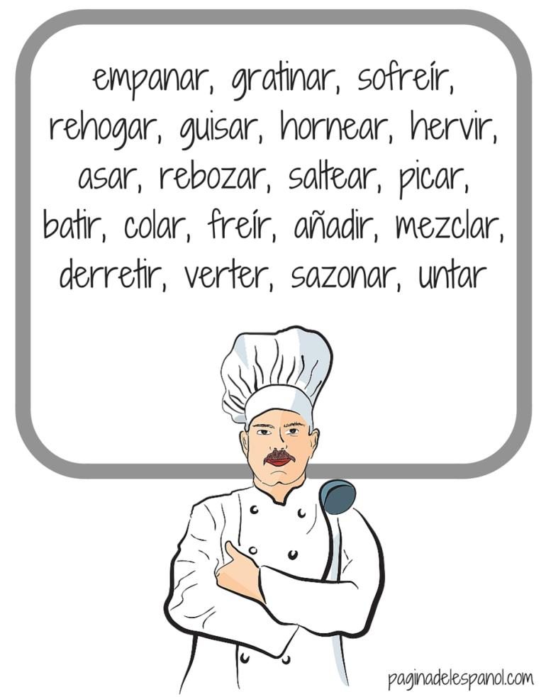 20 Verbos Para Cocinar La P Gina Del Espa Ol