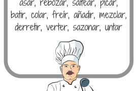 Spanish verbs for cooking