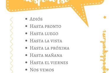 Formas de decir adiós en español (2)
