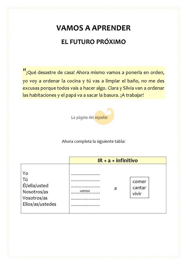 Futuro próximo en español