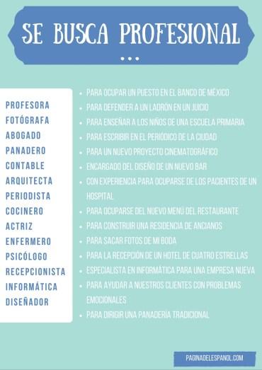 Profesiones en español