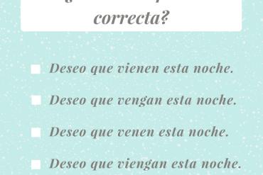 ¿Cuál es la frase correcta?
