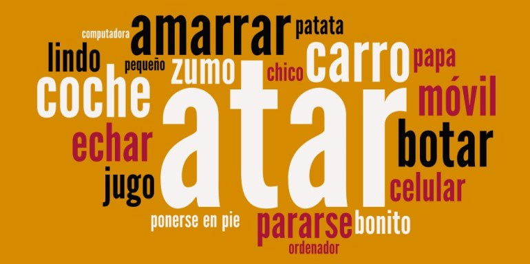 Palabras diferentes entre España y Latinoamérica