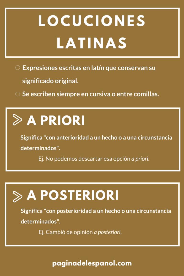 A Priori Y A Posteriori La Página Del Español