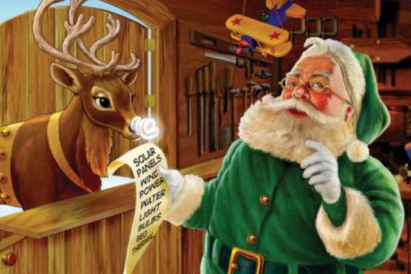 Perch Babbo Natale  vestito di rosso