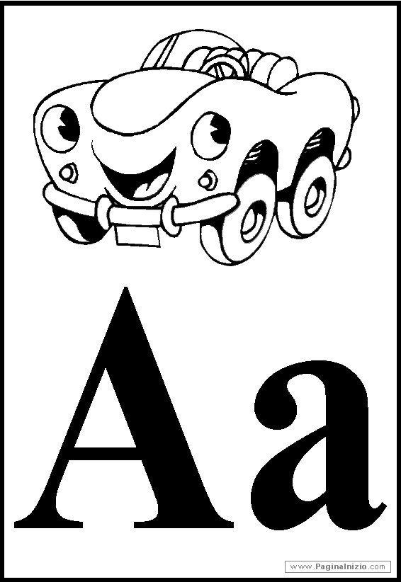 Alfabeto Da Colorare Lettera A