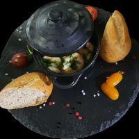 gamberetti aglio e olio – tapas y meal