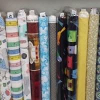 nuevas telas en la tienda en Las Palmas