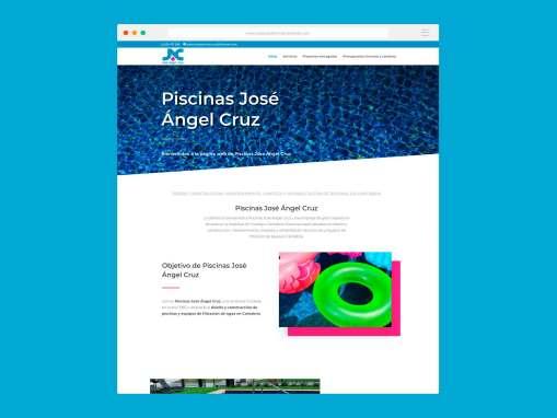 Página Web Piscinas Jose Ángel Cruz