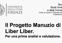 Il Progetto Manuzio di Liber Liber