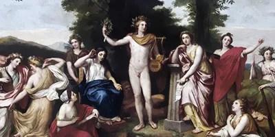 Anton Raphael Mengs (1728-1779), Il Parnaso (1761), affresco, Roma, Villa Albani.
