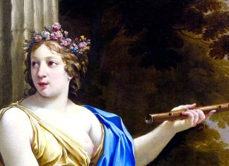 Euterpe, The Muse of music and lyric poetry di Simon Vouet