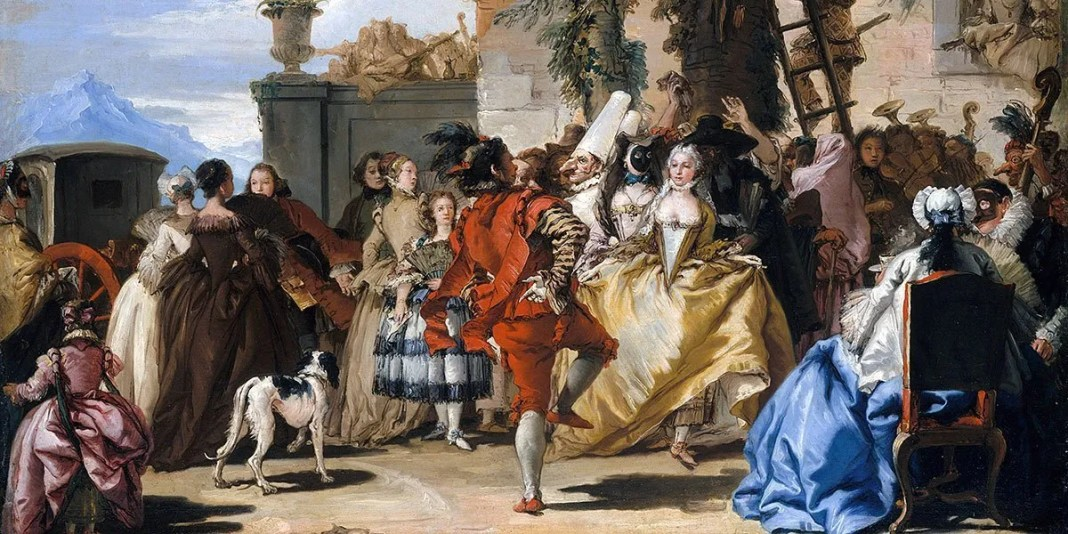 """Una danza in campagna"" (1755) di Giandomenico Tiepolo"