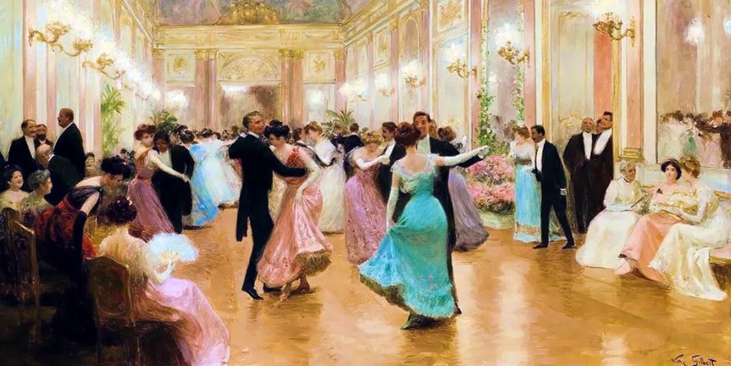 Le bal ou une soirée élégante di Victor Gabriel Gilbert.
